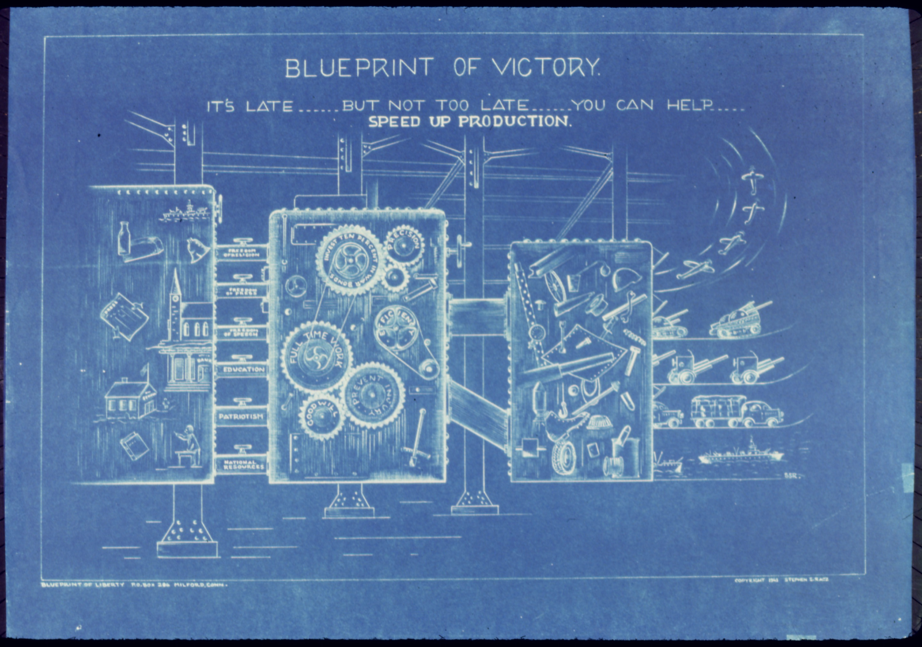 Blueprint of victory, showing a machine